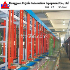 Automatic Rack Galvanizing Plating Production Line with Plating Bath for Zipper / Zipper Head
