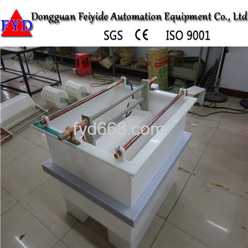 Feiyide Manual Copper Barrel Electroplating / Plating Production Line for Hinges