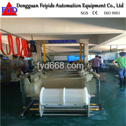 Feiyide Semi-automatic Copper Barrel Electroplating / Plating Production Line for Metal Parts