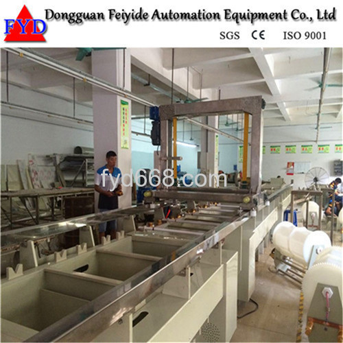 Feiyide Semi-automatic Nickel Barrel Electroplating / Plating Production Line for Metal Parts
