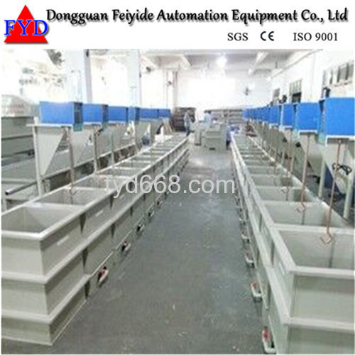 Feiyide Manual Rack Copper Rack Electroplating / Plating Production Line for Hinges