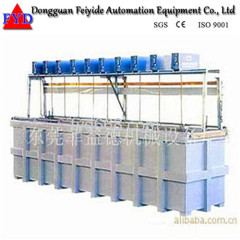 Feiyide Manual Rack Copper Electroplating / Plating Production Line for Hanges