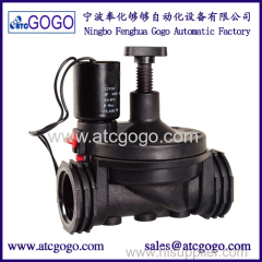 2/2 way NC solenoid valve with flow control manual set for irrigation