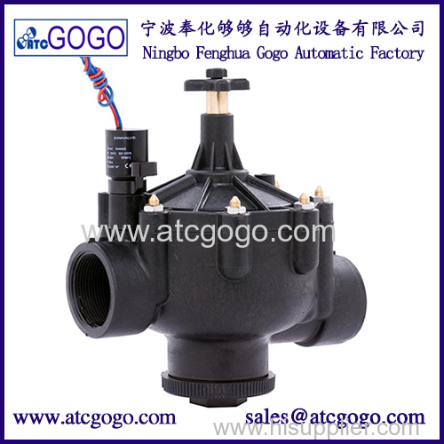 Garden irrigation 2-inch 3-way solenoid valve with high quality water-saving drip irrigation
