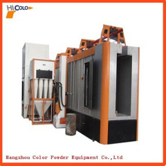 Multi-cyclone after filters recovery system electrostatic powder coating booth