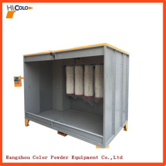 Top quality factory price manual spray booth for powder coating