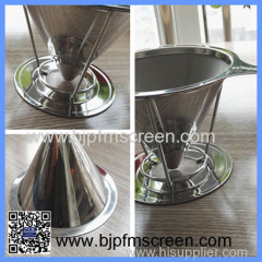 stainless steel pour over dripper coffee filter