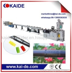 Extrusion machine for drip irrigation pipe line