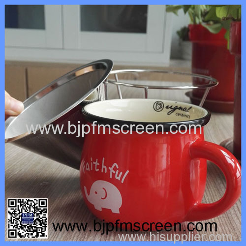 wholesale reusable stainless steel coffee filter