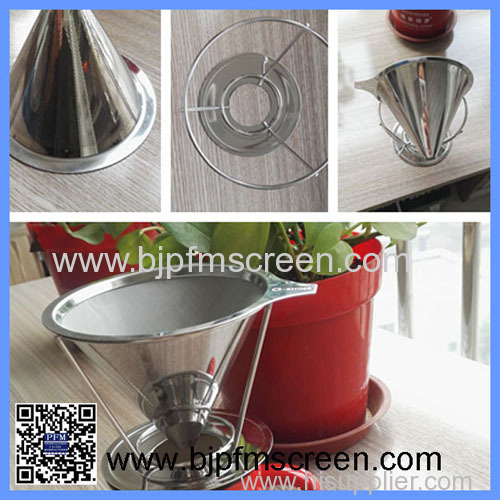 304 stainless steel pour over coffee filter