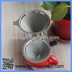 hot sale reusable stainless steel coffee filter