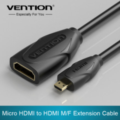 Round Micro HDMI to HDMI extention Cable
