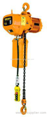 Electric chain hoist with dual speeds