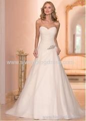 Tulle Sweetheart Neckline A-Line Wedding Dress with Rhinestones