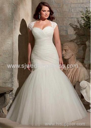 Tulle Sweetheart Neckline Natural Waistline Mermaid Plus Size