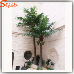 Artificial fake leaves canary date palm tree large indoor Asia palm trees sale