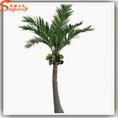 Garden decor Coconut plants Bent shape artificial cocnut Palm Trees