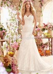 Tulle Sweetheart Neckline Mermaid Wedding Dress