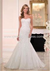 Organza Sweetheart Neckline Natural Waistline Mermaid Wedding Dress