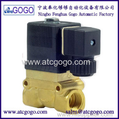 burket type 50bar high pressure high temperature solenoid valve normal close pilot brass valve