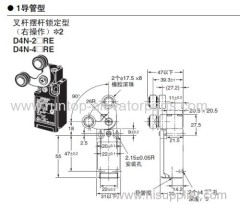 OTIS elevator parts Switch D4N-2ARE