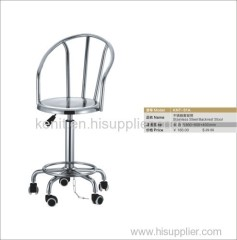 metal backrest stool anti-static