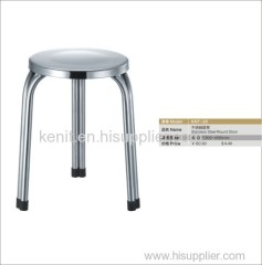 stacking stainless steel round stool
