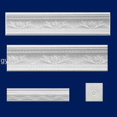 Fiberglass reinforced white gypsum ceiling cornice