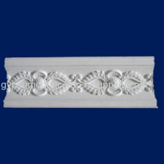 plaster cornice with natural gypsum powder and reinforced glassfiber