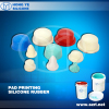 Pad printing silicone rubber for electronic toys
