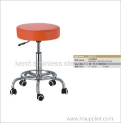 stainless steel round stool with foam seating