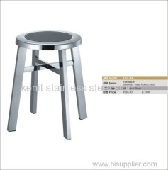stainless steel round stool fixed