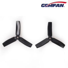 4040 3-blade Bullnose PC Propellers CW CCW Black & Green & Orange