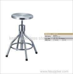 stainless steel revolving medical stool