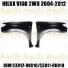 Pick-Up Truck Front Steel Fender For VIGO 2WD 2004-2012 OEM 53812-0K010/53811-0K010