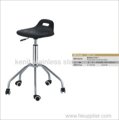polyurethane shop stool metal chair