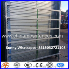 2.1x1.8m oval pipe horse panel fence