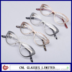 Fashionable eyeglasses frames titanium glasses frame stainless steel metal eye wear