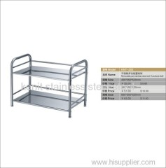 two layer stainless steel multi-functional shelf