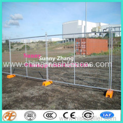 2.4x2.1m temporary fence with concrete base and clamps
