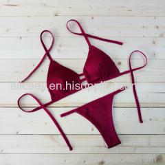 2016 Top Strappy Cheeky Brazilian Bikini Set Cheap Women Swimwear 2 Pieces Cover Up Swimsuit Sale