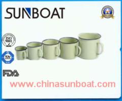 enamel mug of various capacity