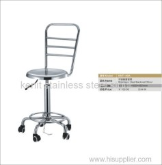 stainless steel backrest stool