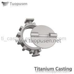 Ttitanium casting parts butterfly valve ASTM B367