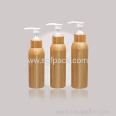 350ML PET BAMBOO JAR BAMBOO BOTTLE