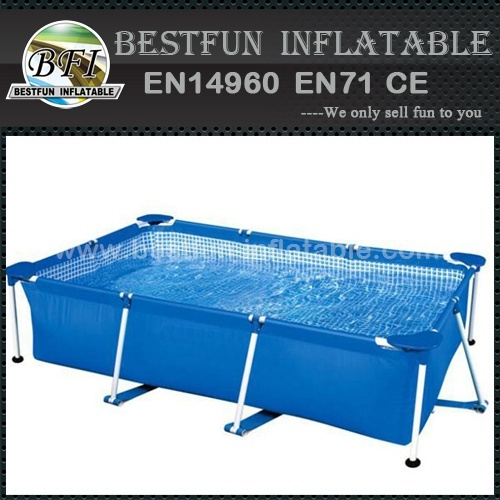 Summer vocation metal frame swimming pool