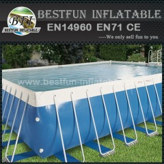 Plastic steel frame structure swimming pool
