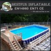 Intex Family Size Round Metal Frame Plastic Swimming Pools
