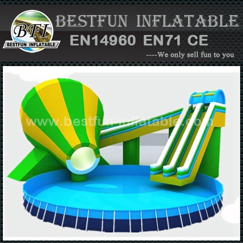 Metal frame pool water theme park
