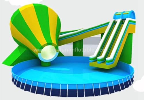 Metal Frame Amusement Park Giant Inflatable Inground Pool